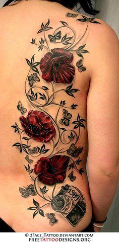 Rose and vine tattoo - remove the camera