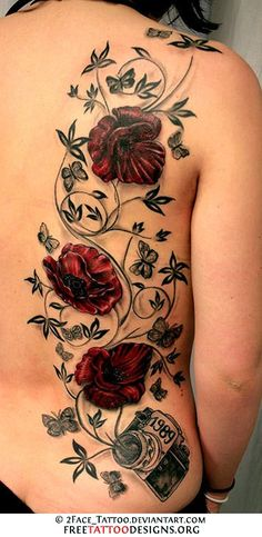Rose and vine tattoo