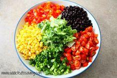 Southwestern Chopped Salad with Cilantro Lime Dressing Recipe