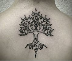 Tree of Life & Unalome Tattoo by Medusa Lou Tattoo Artist - medusaloux@outlook.com