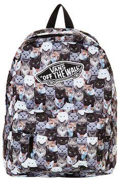 616df40c6bb7a The Vans x Aspca Realm Cat Backpack Mochila Negra