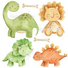 Die Dinos Baby, Baby Dinosaurs, Nursery Wall Decals, Nursery Art, Imprimibles Toy Story Gratis, Cute Little Things, Fabric Paper, Kids Room, Dinosaur Stuffed Animal