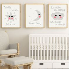 Browse all products in the Decor category from A Vintage Kiss Dolls. Vintage Kiss, Happy Baby, Little Star, Nursery Art, Twinkle Twinkle, Cribs, Vintage Items, Shops, Kawaii