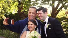 While jogging through Central Park in New York City over the weekend, actor Tom Hanks spotted a couple having their wedding photos taken and had to stop for a s