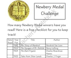 Newbery Medal Winners Checklist from Simply Special on TeachersNotebook.com - (5 pages) - Which Newbery Medal winner books have you read? Keep track with this handy checklist!
