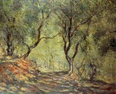 "Oil painting on canvas,""the olive tree wood in the moreno garden"",by Claude Monet"