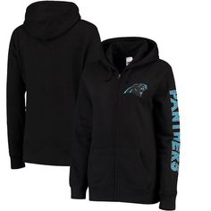 Carolina Panthers Women's Extra Point 2 Hit Full-Zip Hoodie - Black - $44.99
