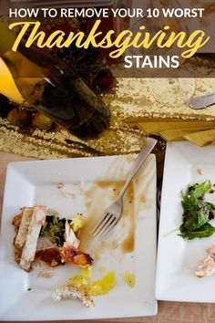 Your ultimate Thanksgiving stain removal guide is here! From butter and gravy, to wine, cranberry sauce and more. We share our best Thanksgiving cleaning tips for your toughest holiday stains.