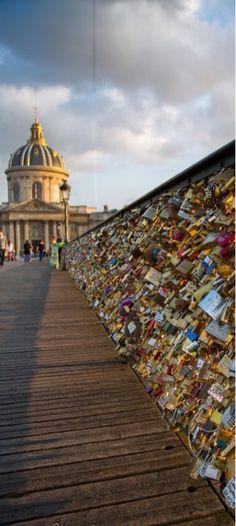 Pont des Arts Love Locks in Paris