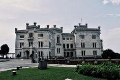 Miramare Castle near Trieste Trieste, Notre Dame, Costa, Mansions, House Styles, Building, Travel, Italia, Park