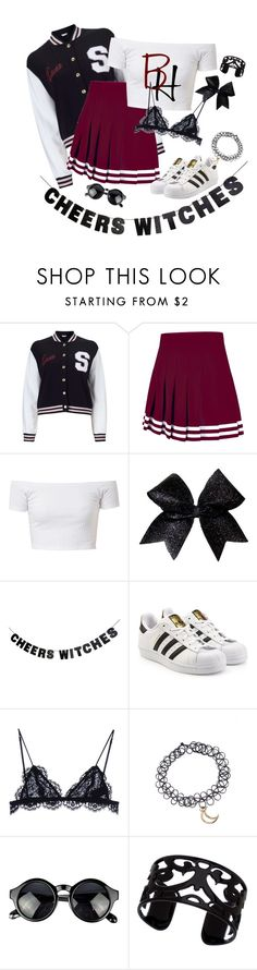 """""""Cheers Witches"""" by mari-alves223 ❤ liked on Polyvore featuring Miss Selfridge, WALL, adidas Originals, Isabel Marant and Lisa August"""