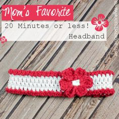 Mom's Favorite 20 Minutes or Less Headband ~ Oombawka Design