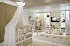 Luiza de Vestido: Quarto bebê: Bege e branco
