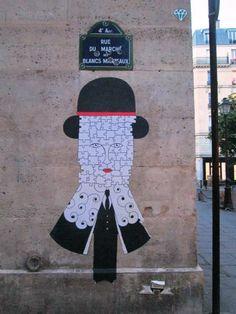 """Artist : Fred Le Chevalier """"Paris IV rue des blancs manteaux """""""