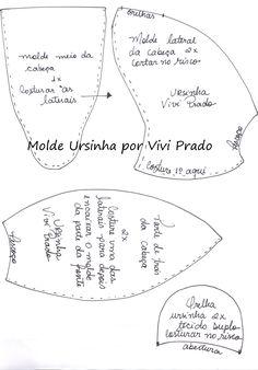 ursinha Vivi molde 3