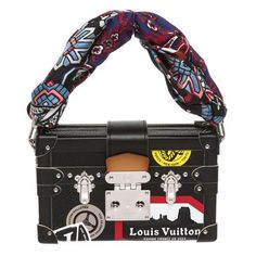 Pre-Owned Louis Vuitton Black Epi Leather Petite Malle Clutch Handbag (90.070.285 IDR) ❤ liked on Polyvore featuring bags, handbags, clutches, crossbody hand bags, purse crossbody, louis vuitton clutches, cross body and louis vuitton purse