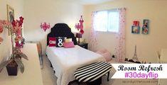 Room Refresh - Teen Girls Room #30dayflip