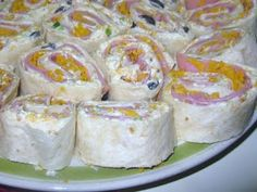 Tortilla Ham and Cheese Pinwheels...a great simple appetizer but make sure you make a lot as they go quickly!