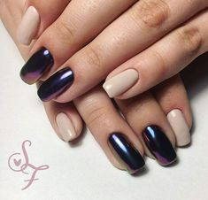 Mix of duochrome and neutral beige nails perfect balance . Beige Nails, Manicure, Nail Designs, Neutral, Gorgeous Nails, Elegant, Spring, Sparkles, Classy