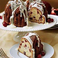 I'M GOING TO TRY TO MAKE THIS AROUND CHRISTMAS:-)Orange-Glazed Cranberry Pound Cake | MyRecipes.com