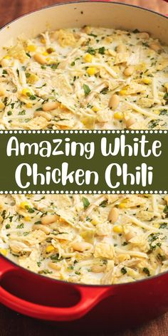 Amazing White Chicken Chili Recipes to Cook Slow Cooker Recipes, Crockpot Recipes, Chicken Recipes, Cooking Recipes, Healthy Recipes, Easy Recipes, Chicken Soups, Chicken Corn Chowder, Chicken Noodle Soup