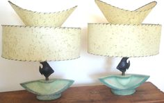 Mid Century Fish Lamps A Gorgeous Pair | eBay