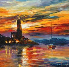 By The Lighthouse Painting by Collection 1