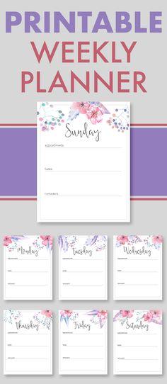 Weekly Planners, Weekly Planner, Printable Weekly Planners, Printable Weekly Planner, Weekly Schedule, Weekly Organizer, Daily Planners, Printable Daily Planner, Free Downloadables, Printables and Downloadables