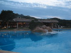 A lovely place in Costa Smeralda, Sardinia: Porto Cervo! This is Hotel Pitrizza, and its gorgeous swimming pool...