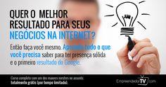 Aprenda GRÁTIS como colocar o seu site ou blog na primeira página do Google.É grátis. http://www.omb100.com/br/video/10/35912#.VCk0HhJDR1Y