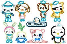 Octo NINE Design SET Machine Applique Embroidery Design, multiple sizes including 4 inch
