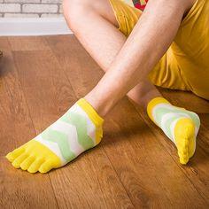 Men's Socks Motivated 1 Pair Spring Autumn Warm Style Unisx Men Deodorant Five Finger Leisure Pure Cotton Sock 6 Colors Drop Shipping