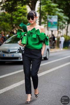 Leaf Greener Street Style Street Fashion Streetsnaps by STYLEDUMONDE Street…