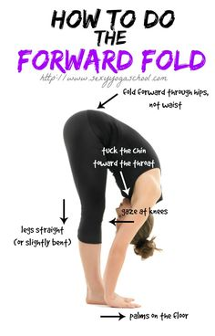 Yoga Poses & Workouts For Beginners: The third move in the Sun Salutation Sequence, this forward bend is packed with … Yin Yoga, Yoga Bewegungen, Yoga Moves, Yoga Meditation, Ashtanga Yoga, Vinyasa Yoga, Kundalini Yoga, Fitness Workouts, Yoga Fitness