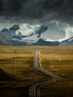 View top-quality stock photos of Road Leading To Himalayas Range On Tibet Side. Find premium, high-resolution stock photography at Getty Images. Beautiful World, Beautiful Places, Beautiful Roads, On The Road Again, All Nature, Travel Photographer, Professional Photographer, Beautiful Landscapes, Landscape Photography