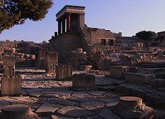 Minoan ruins on Crete...civiliation was wiped out due to volcano eruption in Santorini Islands.