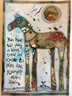 Idea: Use an animal outline and have fun collaging or filling it in with doodles and color. Deb Weiers - Play