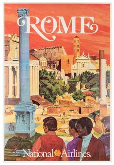 Vintage Travel Posters, Vintage Airline, National Airlines, Roman Forum, Rome Travel, Air France, New Poster, The Originals, Petersburg Florida