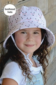 Here kitty, kitty... Bedhead's bucket hat in 'Kitty' print. Our kids bucket sun hat is rated UPF 50+, perfect for the Australian summer!  #bedheadhats #kidshats #kidsfashion