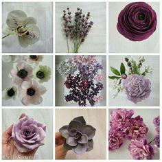 Flowers, sugarflowrrs, sugarart, purple flowers, lilacs, anemone, orchid