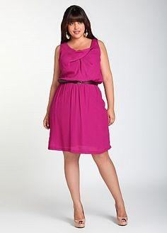 Ashley Stewart: Tank Dress W/ Removable Belt