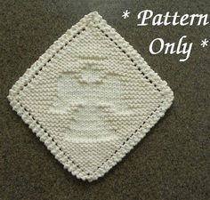Knitting Patterns Dishcloth Grandma& Favorite ANGEL Knitting Pattern, Diagonal Knit Dishcloth or Wash Cloth Pattern, Hostes. Dishcloth Knitting Patterns, Knit Dishcloth, Knit Patterns, Clothing Patterns, Baby Knitting, Free Knitting, Knitting Stitches, Crochet Potholders, Knitting Ideas