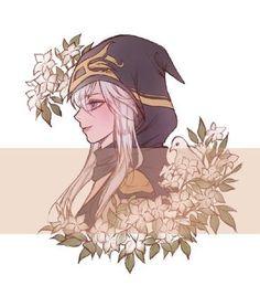 Ashe League Of Legends, League Of Legends Characters, Anime Neko, Kawaii Anime, Anime Art, Character Concept, Character Art, Lol Champ, Legend Drawing