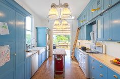 Kitchen of the Week: Pushing Boundaries in a San Francisco Victorian - Beautiful. If I ever change my color scheme in my kitchen, this is a contender. Except for the yellow. Not a fan of yellow.