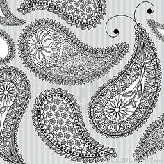 ornate paisley with simple background