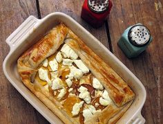 Butternut Squash and Goat Cheese Tart (with Caramelized Onions in a Puff Pastry). Sounds delicious!