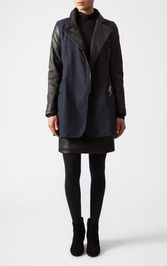 Closed | Wool & Leather Coat | Shop