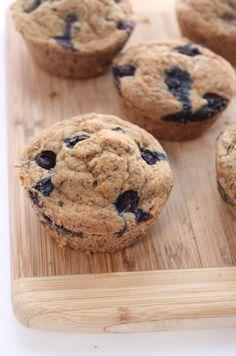 Vegan Blueberry Flax Muffins Gluten Free kbaked 13