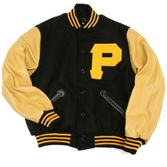Mitchell & Ness 1960 Pittsburgh Pirates Wool/Leather Jacket sz 60 (4XL) - Catch 22 Boutique