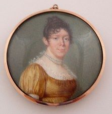 Georgian two-sided portrait miniature  Circa 1780-1810